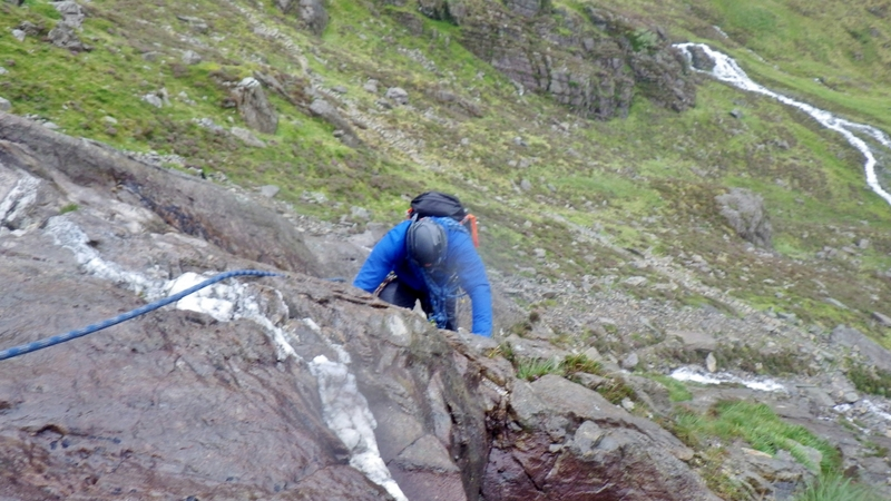 A great day out Rock scrambling in Snowdonia