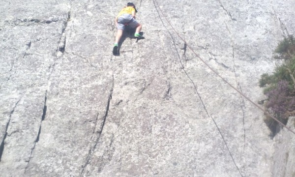 Some hard climbing here