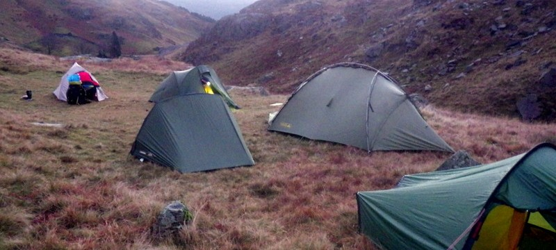 Wild camping in Snowdonia good tents are very important