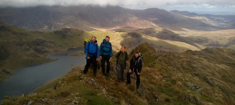 Mountain leader Assessment on Lliwedd during the multi day camp before dropping into Cwm Dyli