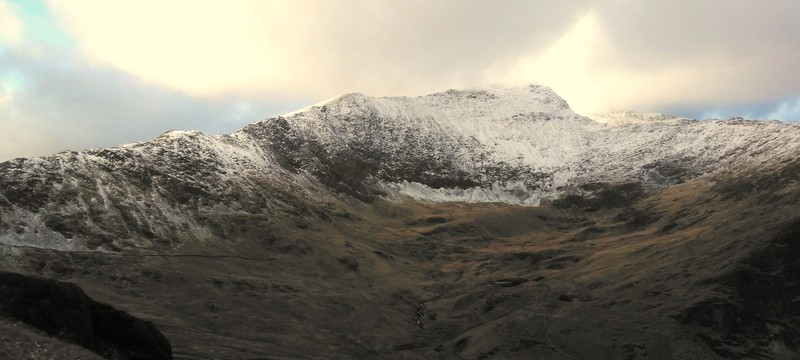 Snowdon starting to look wintery!