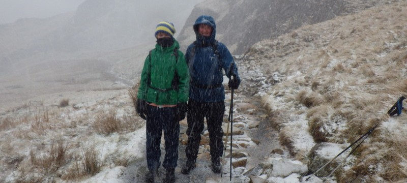 Winter walking in Snowdonia with Max and Andrew