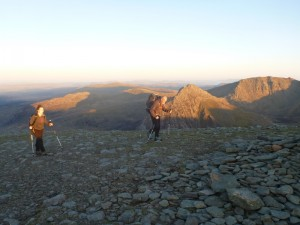 Walking across the Carneddau