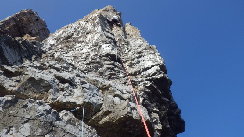 Rock climbing in Pembroke Line Out E1 5a St Govan