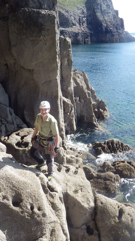 Rock climbing in Pembroke Mother Carey