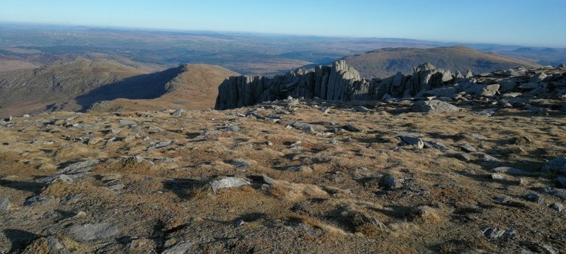 Snowdonia Glyders top of Bristly ridge gully
