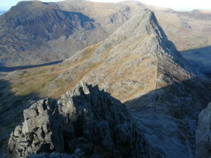Snowdonia looking across to Tryfan from Bristly Ridge