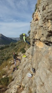 Rock Climbing on the Costa Blanca in The Xalo Valley Murla with Mountaineering Joe