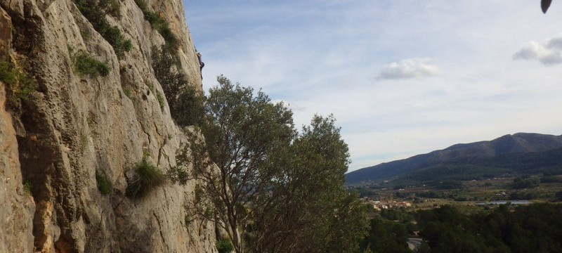 Rock Climbing on the Costa Blanca in The Xalo Valley Pena Roja with Mountaineering Joe