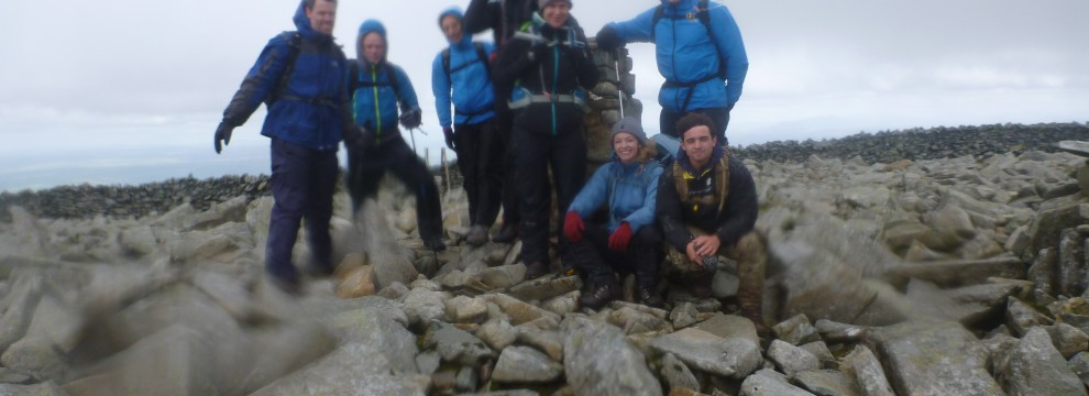 Welsh 3000s 14 peaks challenge finally the end. The final peak with just a 2 hour walk off.